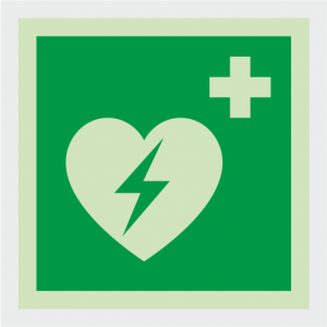 Safe Condition Defibrillator Sign image