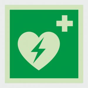 Safe Condition Defibrillator Sign image