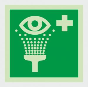 Safe Condition Emergency Eyewash Station Sign image