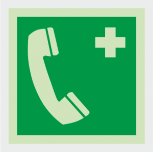 Safe Condition Emergency Telephone Sign image