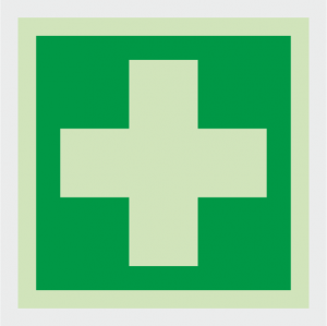 Safe Condition Running First Aid Sign