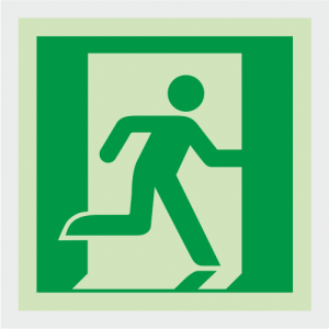 Safe Condition Running Man Exit Sign image