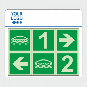IMO Lifeboat Number Direction Safety Sign Board image