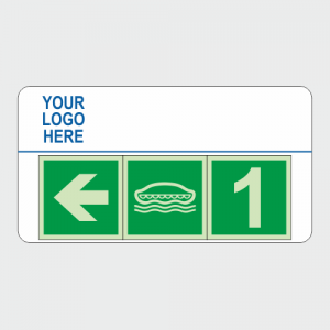 IMO Lifeboat Direction Safety Sign Board image