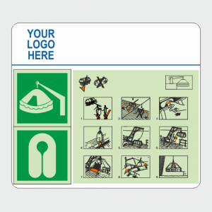 IMO Davit Launch Procedures Safety Sign Board image