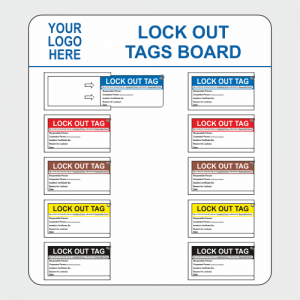 Operational, Informational and Bespoke Boards. Lock out tag board image